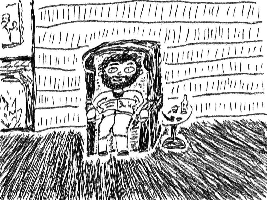 Miklaw wartet Zuhause darauf, von uns zu hören, was in der großen weiten Welt vor sich geht.