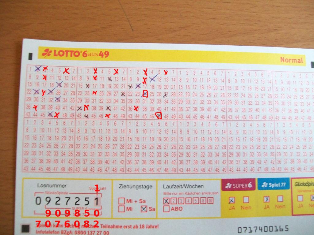 Unser Billionen-Euro-Lottogewinn, wenn wir 2-aus-147 gespielt hätten.